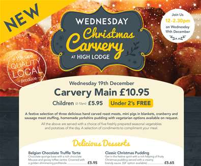 Wednesday Christmas Themed Carvery