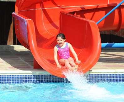 WTS - Heathland Beach - Girl on water slide