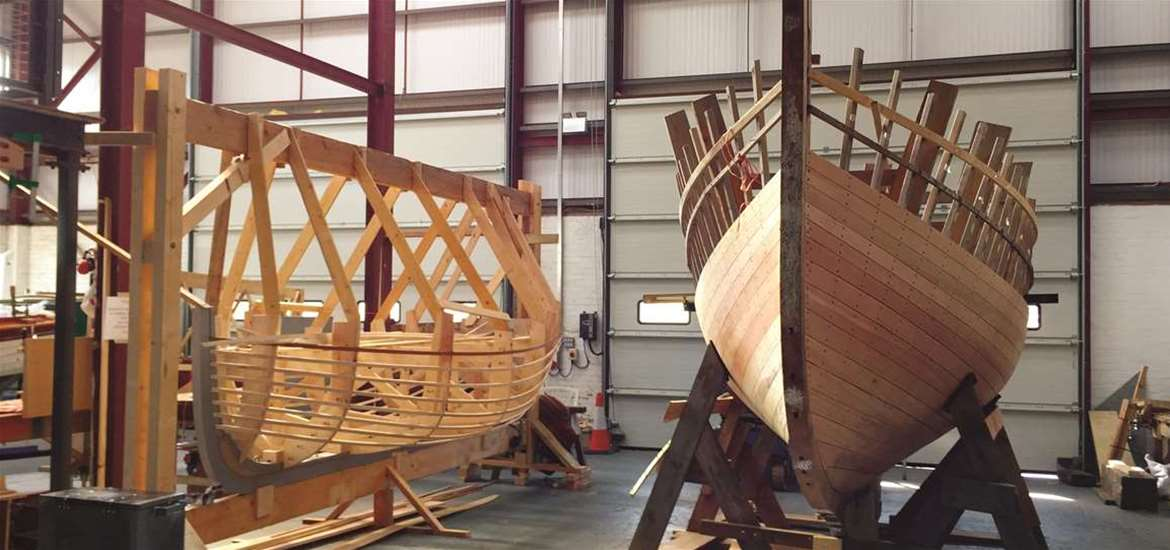TTDA- International Boat Building College - Wooden boat