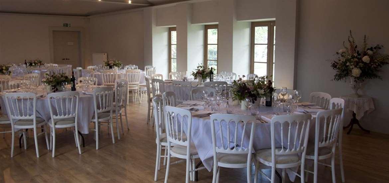 Weddings - Henstead Pavilion - Wedding Breakfast set-up