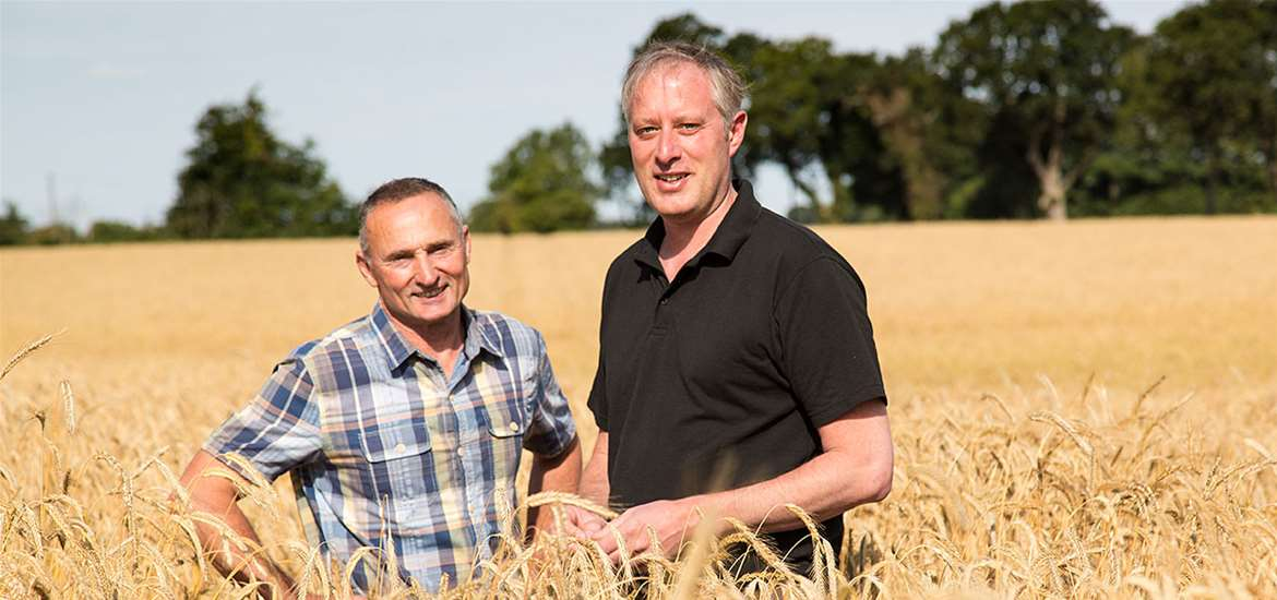 Food and Drink - Adnams - Southwold - Jonathan Adnams and John McCarthy in Rye Field