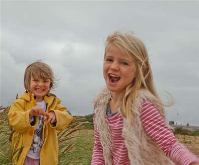 Girls on Landguard Beach - Emily Fae Photography