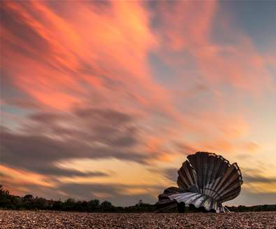 Towns & Villages - Aldeburgh - Scallop at sunset (c) Peter Eyles