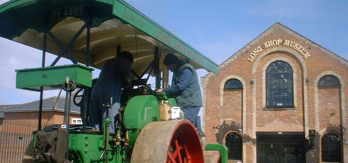 Visitor Information Point - Long Shop Museum - Steam roller