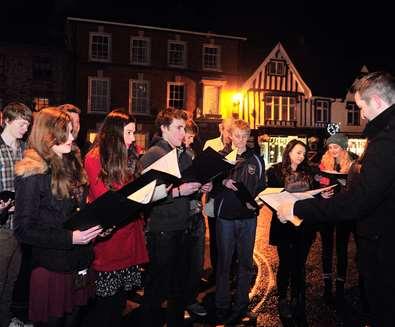 Framlingham Christmas Lights Switch On