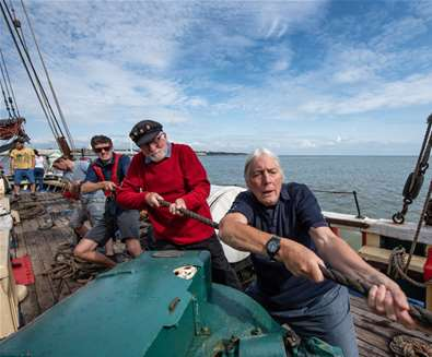 East Anglia's most historic ship takes to the sea again