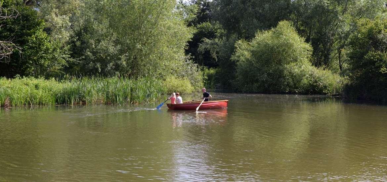FD - Kingfishers - rowing boat on lake