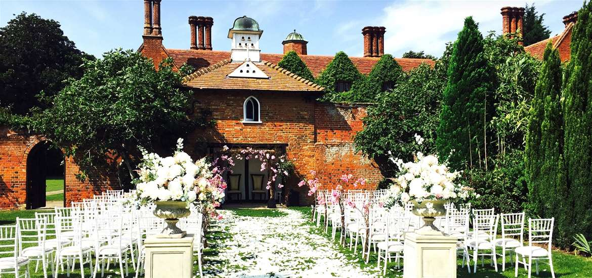 WED - Woodhall Manor - outdoor ceremony
