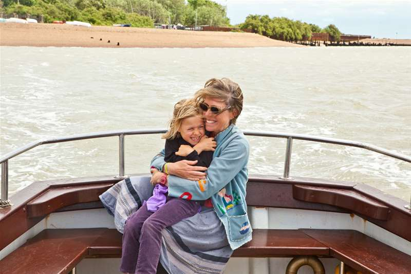Towns & Villages - Bawdsey - mother and daughter