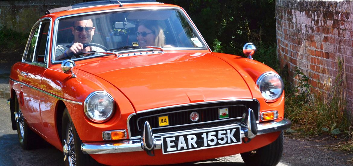 Open Top Touring - Orange MGB GT