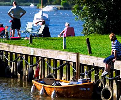 Oulton Broad - Sitting by the riverside - Nick Catling