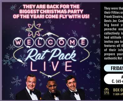 The Rat Pack Live Christmas Party at Spa Pavilion Theatre