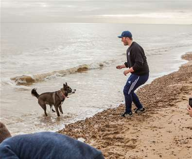Felixstowe - Man with Dog - (c) Emily Fae Photography