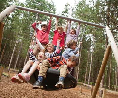 TTDA - Rendlesham Forest children on swing - Emily Fae Photography