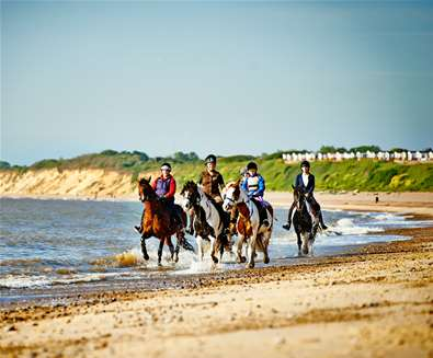 Horseriding on The Suffolk Coast