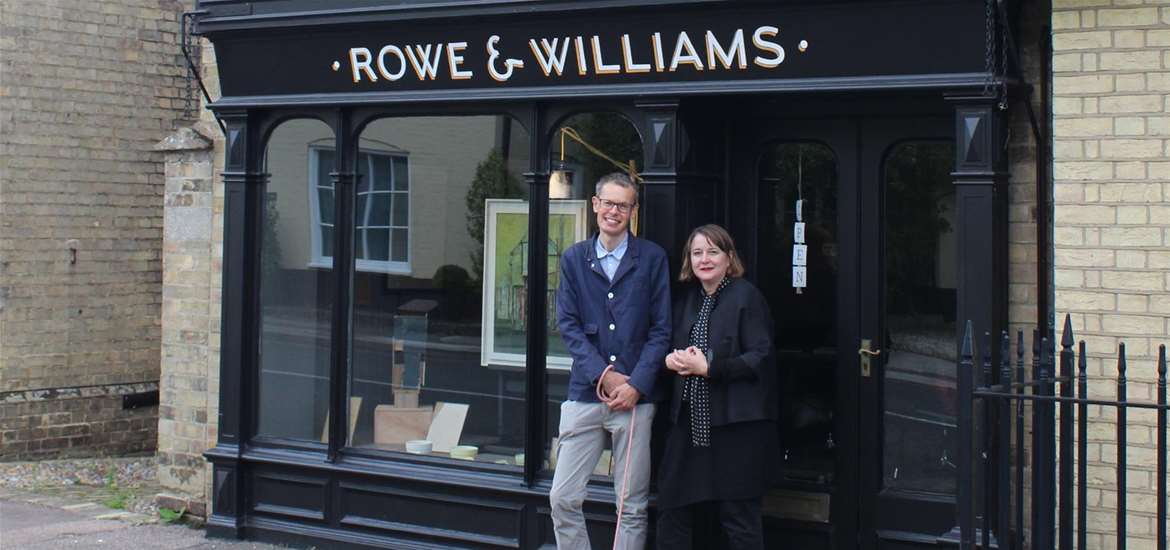 Rowe and Williams Gallery on The Suffolk Coast