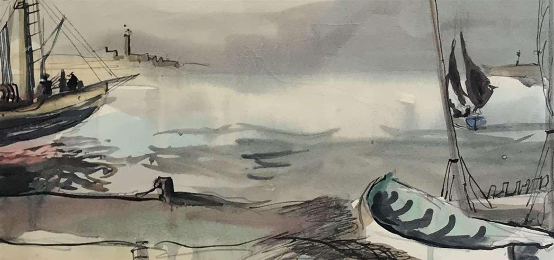 Rowland Suddaby - Coastal Scene, 1946