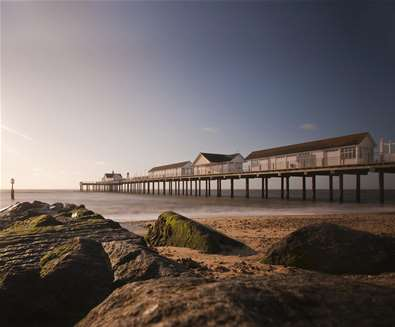 Southwold Pier - The Boardwalk, Beach Cafe and Clockhouse