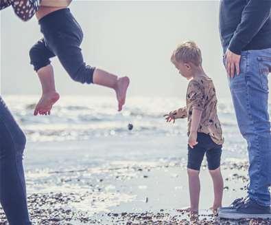Shingle Street - Family on beach - (c) Emily Fae Photography