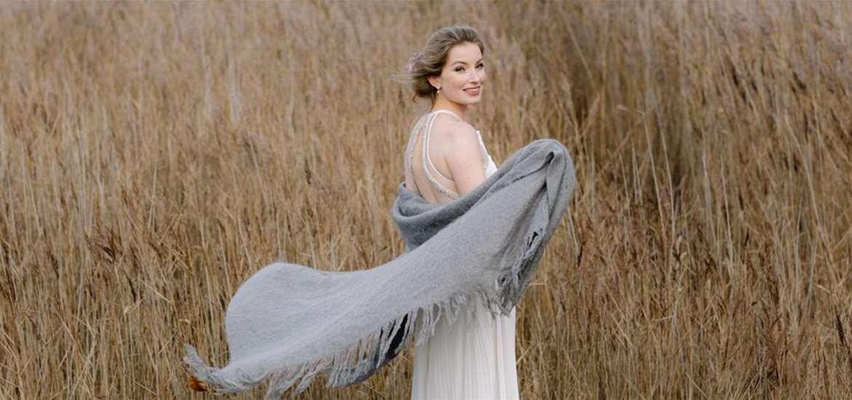 WED - Snape Maltings - Bride in reeds
