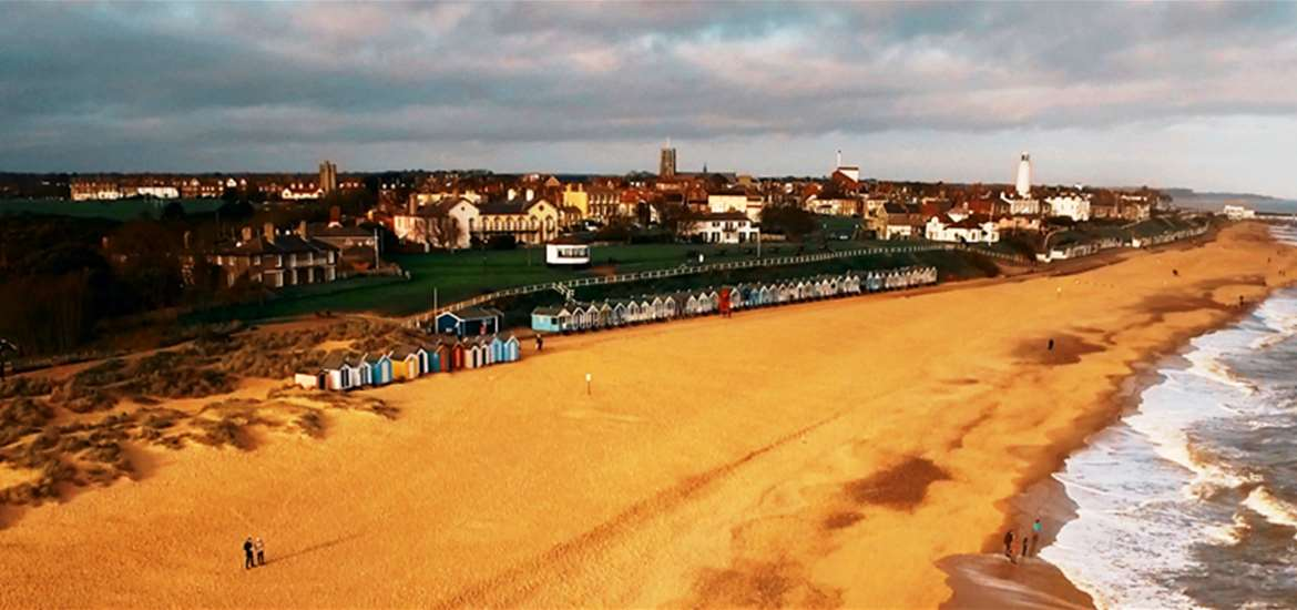 Take a stroll along the Prom on The Suffolk Coast