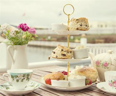 Cream Tea Island at Southwold Boating Lake and Tearoom
