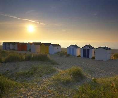Southwold - Beach Huts at sunrise