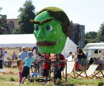 FolkEast green head