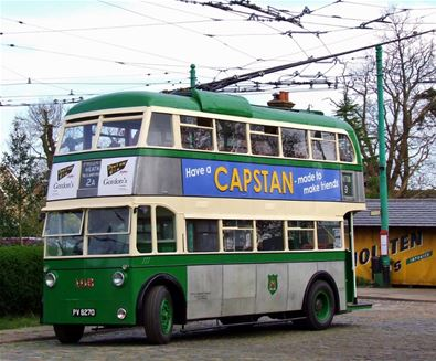 Suffolk Museums - Attractions - Ipswich trolley bus at East Anglia Transport Museum