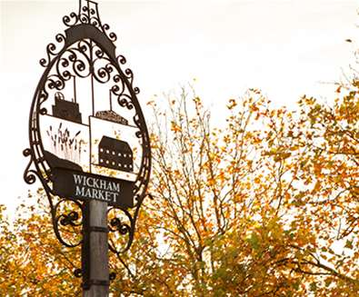 Suffolk Walking Festival - Wickham Market Sign - Emily Fae Photography