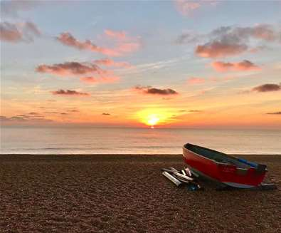 Towns & Villages -  Dunwich -  Sunrise on the beach (c) Karen Dutton