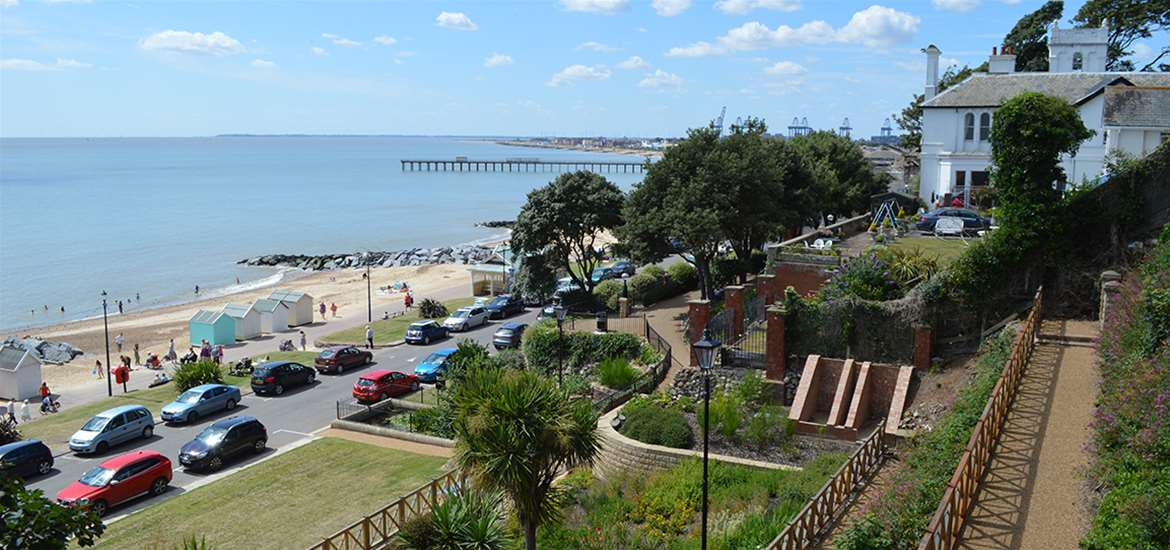 TTDA - Felixstowe Seafront Gardens - View from Gardens