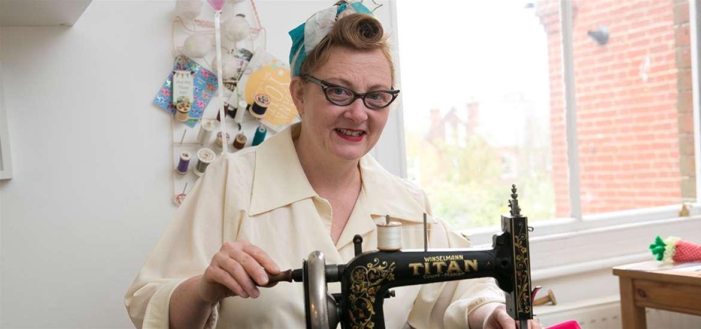TTDA - Felixstowe Sewing School - Lady Sewing