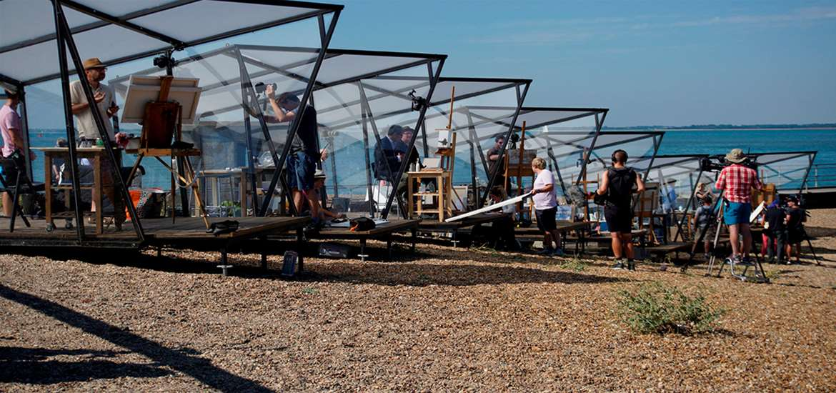 TTDA - Screen Suffolk - Filming on beach