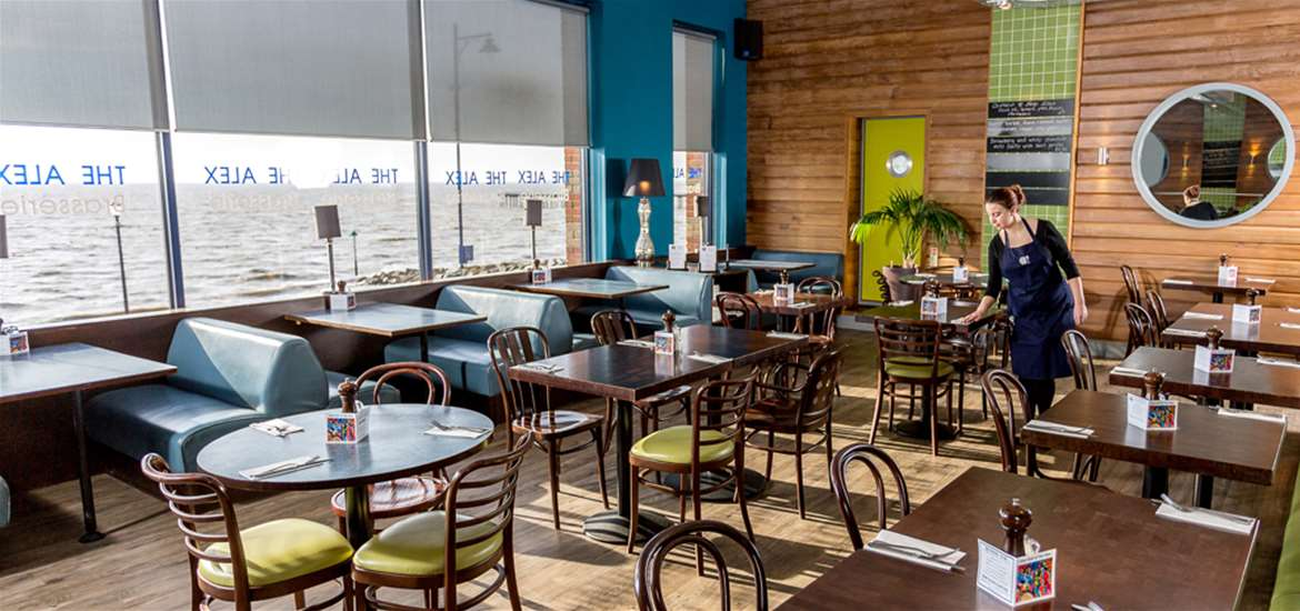 The alex cafe bar brasserie where to eat suffolk for Food bar manufacturers uk
