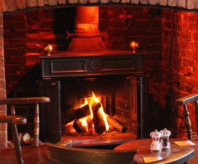 The Ship Inn at Dunwich Log Fire
