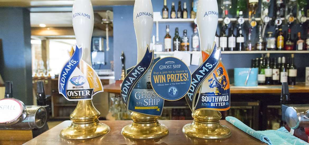 The Bell Inn Walberswick - Adnams on tap
