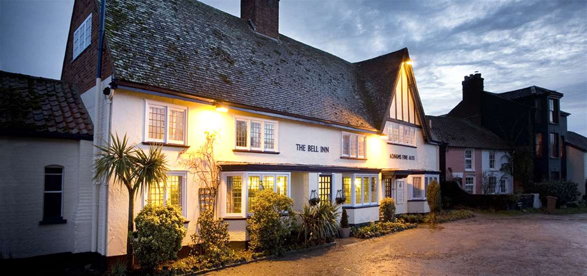 The Bell Inn Walberswick Exterior at Night