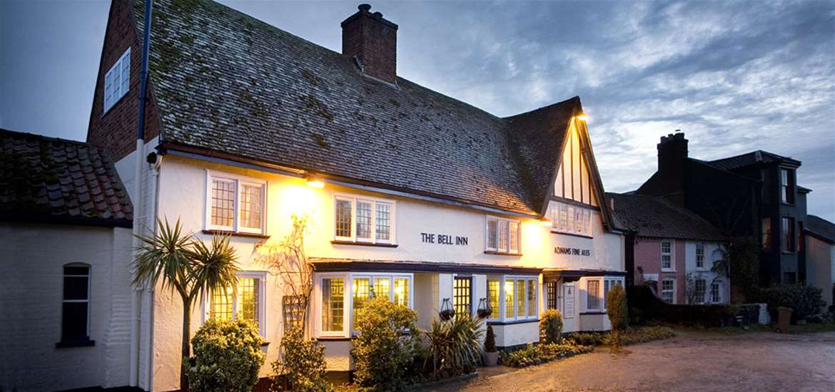 The Bell Inn Walberswick - night time exterior
