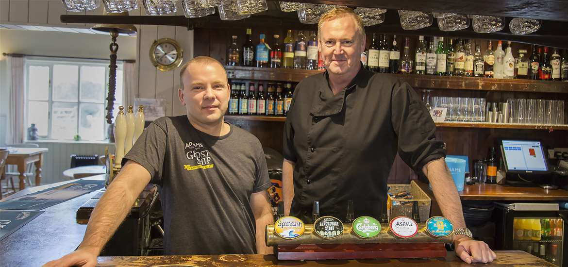 The Ship Inn Levington - Kevin and James