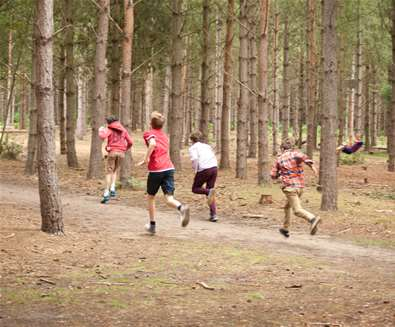 Rendlesham Forest - Kids Running - Emily Fae Photography