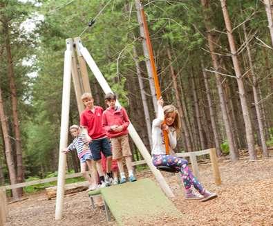 TTDA - Rendlesham Forest - Girl on zipwire