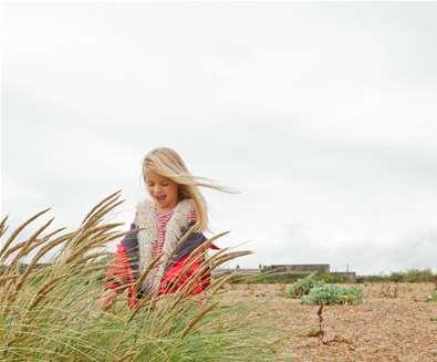 Landguard Peninsula - Girl on beach - Photography by Emily Fae