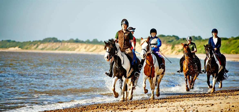 Riding on the Suffolk Coast