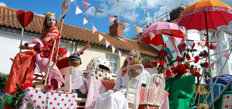 Aldeburgh Carnival on the Suffolk coast
