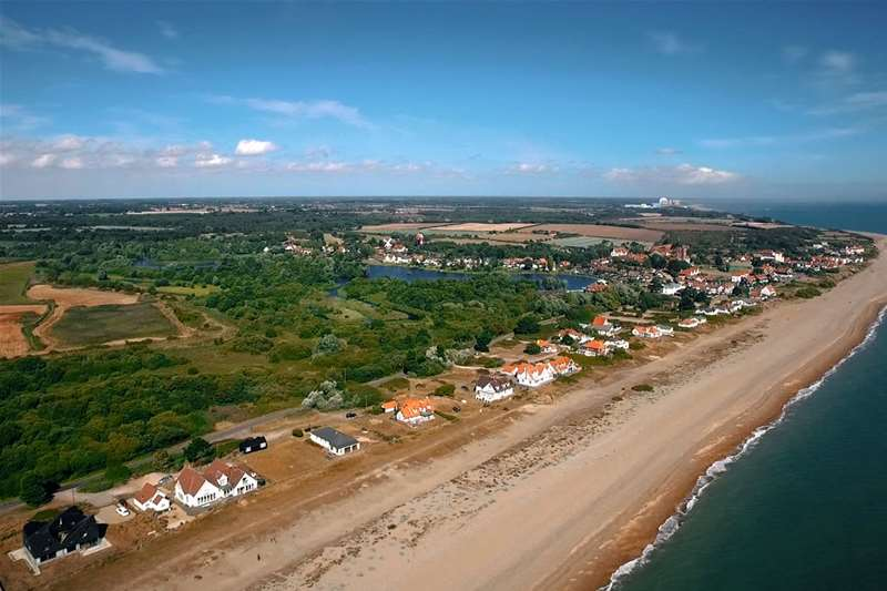 Towns & Villages - Thorpeness - aerial view