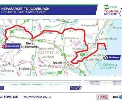 The Tour of Britain comes to Wickham Market