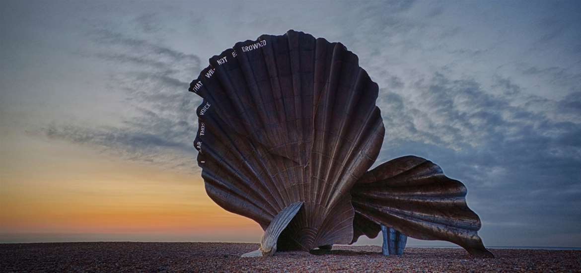 Towns & Villages - Aldeburgh - Maggi Hambling's The Scallop