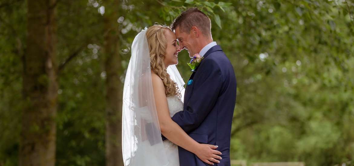 Weddings - Ufford Park - Couple on golf course