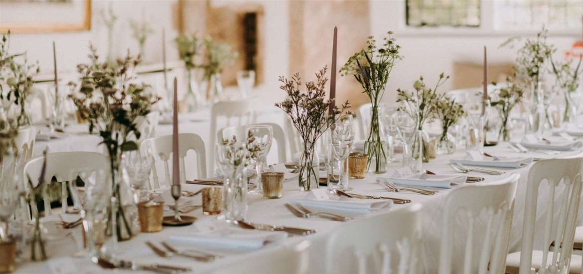 WED - Butley Priory - Reception table